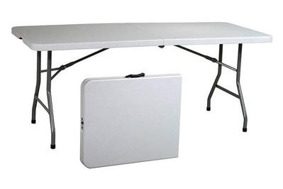 Office Star 6' Resin Centerfold Multipurpose Table